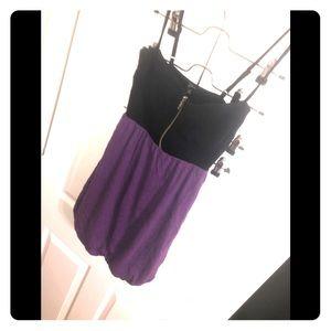 GUESS Zipper up purple & black dress sz S